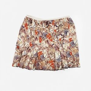 DVF Silk Blend Printed Skirt Size 4